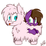 Chubz and Fluffly Pones by BefishProductions
