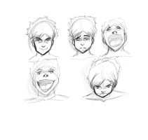 some face expressions practice by YoiHitoSensei