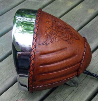 Leather covered headlight by leatheroo