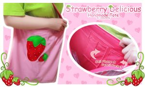 Strawberry Delicious Tote by Annortha