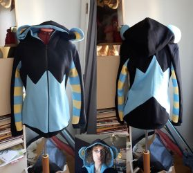 Luxray custom hoodie commission by simakai
