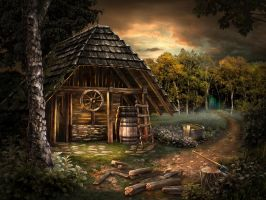 wooden cottage by olga-idealist