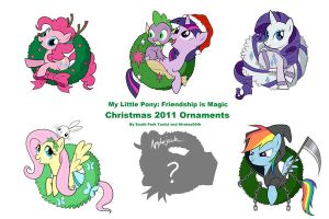 My Little Pony Christmas 2011 Ornaments by SouthParkTaoist