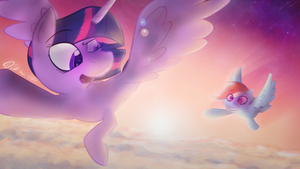 Through the Clouds by Koolkat1337