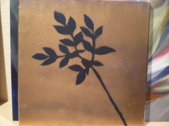 Gold Spray Paint on dark blue by Mistress-of-Emotions