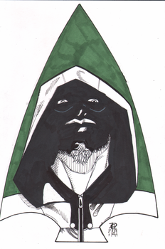 #Inktober 2017 Day Twelve Green Arrow by MentalPablum