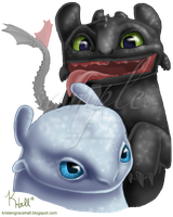 Toothless and His Fair Lady by MonocerosArts