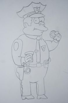 Chief Wiggum by Vinyl-Scratch111