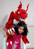 Guilmon size II:::::: by Witchiko