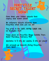 MLPFIM: Ponyville Talent Show Flyer by the-gneech