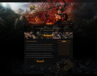 Continent of the Ninth Seal - Website Layout by vasheni