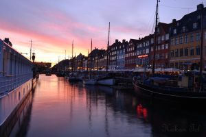 Sunset at Nyhavn by WorldsInWorld