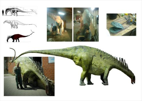 Amargasaurus full-scale model by reminegrest