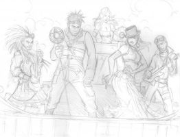 2009 Abney Park Sketch by TessFowler