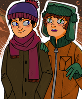 Stan and Kyle by okakopa