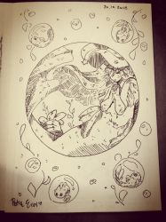 INKTOBER Day 20: Mermaid Witch - ANGELI by Drawing-Heart