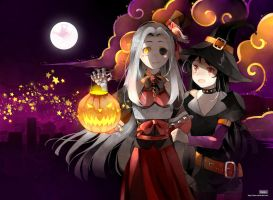 .CC. Golden stars in Halloween Night. by Hetiru