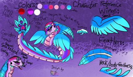 Character adoption #1 SnakeBird wing CLOSED! by AngelCnderDream14