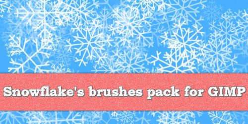 Snowflake Pack for Gimp by MrBeholder