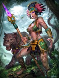 Smite Awilix goddes of the moon by Brolo