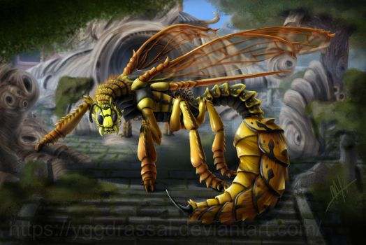 Dragon Wasp by Yggdrassal