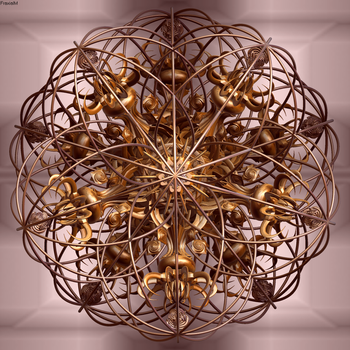 Caged Dodecahedron by fraxialmadness3