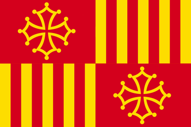 Flag of The Union of Catalonia and Occitania by ArthurDrakoni