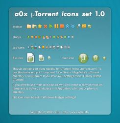 a0x uTorrent icons set 1.0 by a0x