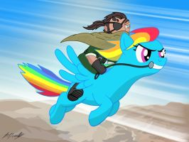 Metal Gear Solid 5 (Staring Rainbow D-Pony) by Algahiem3