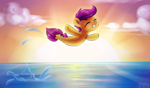 Fly above the sea by LooknamTCN