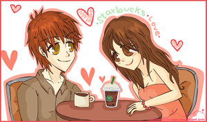 Twilight :: Starbucks by sasukee23loveeer