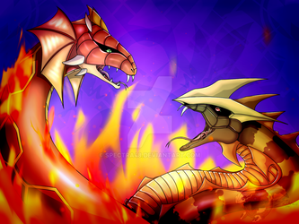 Bakugan // Rattleoid and Serpenoid by Spectra48