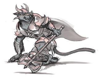 Charr in Armor by Temiree