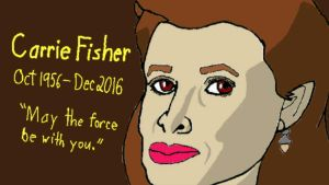 Carrie Fisher by YoshiX96