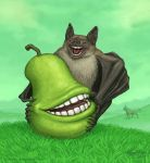 The Biting Pear and the Human-Toothed Bat by Osmatar