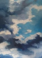 Summer Cloud Study by JMNeedhamArt