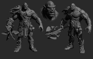 Making Of Orc with Zbrush -(Timelapse) by avcgi360