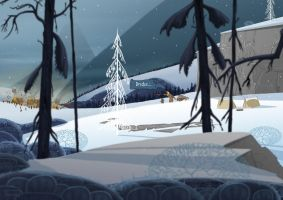 The Banner Saga fan art - Returning Home... by Isbjoernson