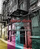 Ombre effects Photoshop actions pack by BerryKissed