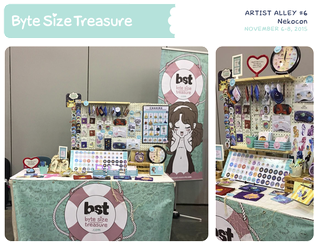 BST Artist Alley #6 - Nekocon 2015 by bytesizetreasure