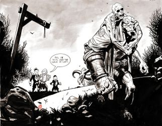 Hellboy and the Corpse by Stephen-Green