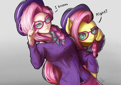 Hipster Shy by The-Park