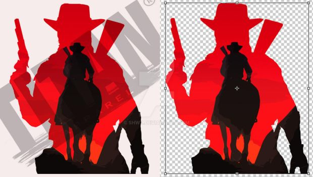 cowboys and Indians in battle by SHWZ