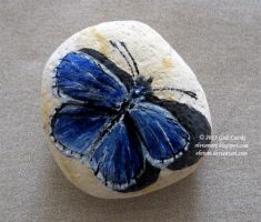 Pebble Butterfly by Olvium