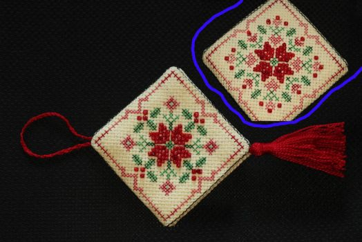 cross stitched ornament WIP by KaidaYinThyme