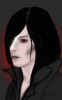 Fallen, Character sketch by GothicRavenMidnight