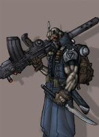 cyborg colored by shalomone
