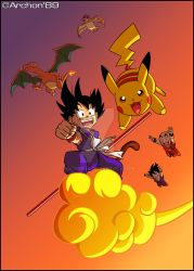 DragonBall and Pokemon Anniversaries by Archon89
