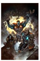 CABLE AND THE X-FORCE #3 cover by DavidCuriel