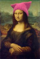 Mona Lisa in PussyHat by vincegotera